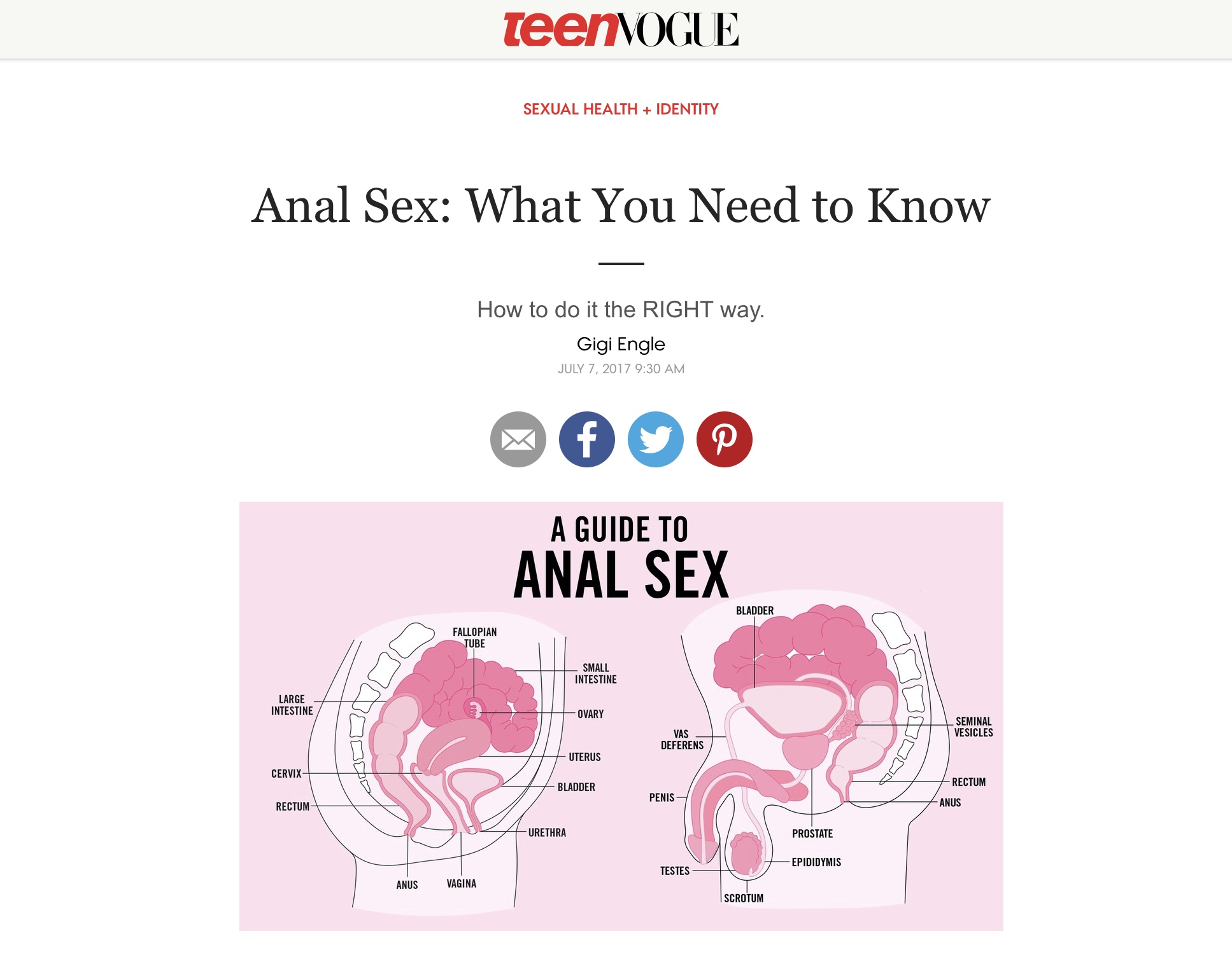 Correct way to have anal sex